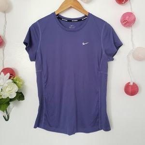 NIKE purple dri-fit athletic top L